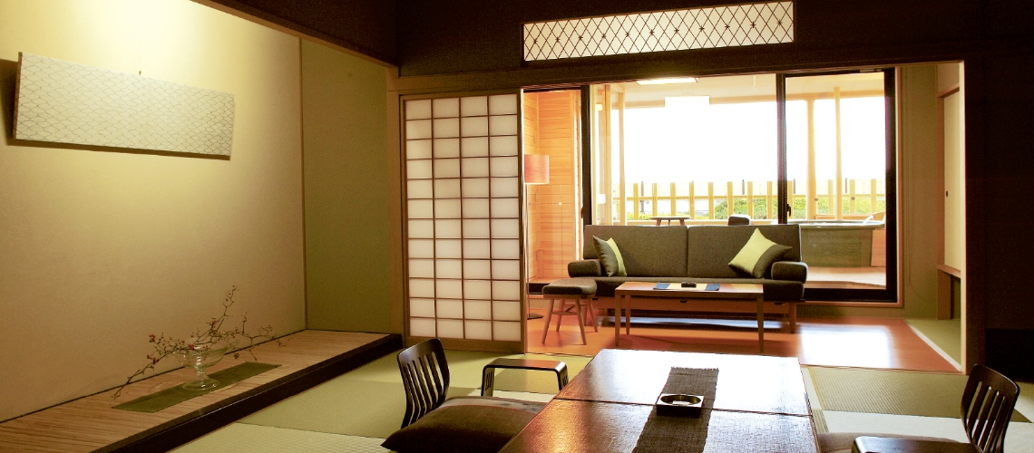 Tokiwasure Hanareza: Guest rooms with a private open-air bath with hot spring water